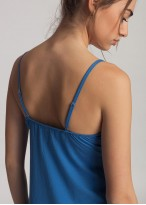 Camasa noapte modal cu bretele Danielle Star Sapphire
