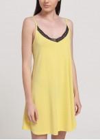Camasa noapte dama modal cu bretele Fiona yellow