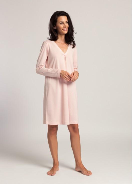 Camasa noapte modal maneca lunga Clara pink