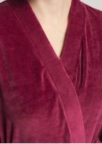 Halat catifea Debora red plum