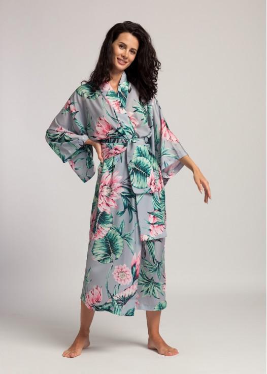 Kimono dama satin Beatrice Lotus