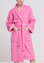 Halat baie bumbac dama roz