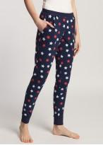 Pantaloni pijama dama bumbac cu mansete Grace