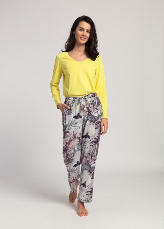 Pantaloni lungi dama satin Beatrice Cinera