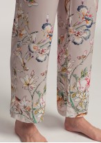 Pantaloni lungi dama satin Beatrice Jungle