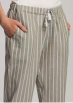 Pantaloni dama in Cool Flax dungi maro