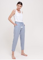 Pantaloni dama in Cool Flax dungi bleu