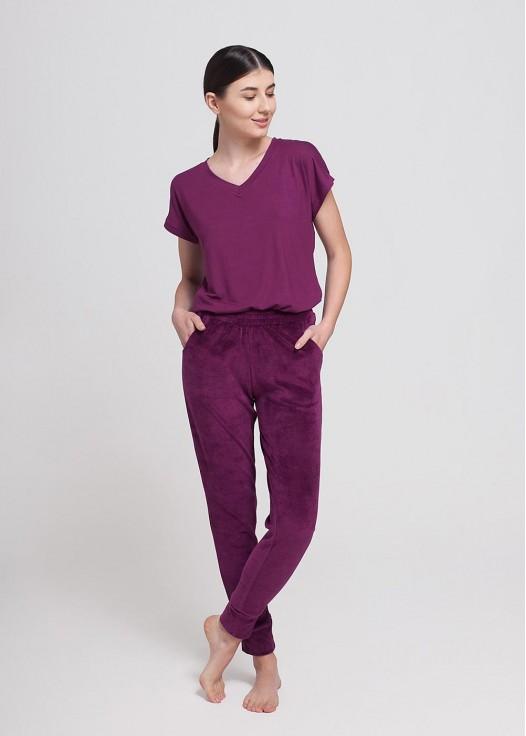 Pantaloni catifea Edith mov