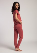 Pantaloni dama modal mansete Urban Story red