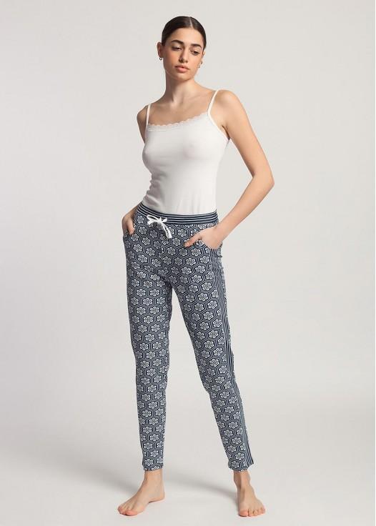 Pantaloni dama modal Urban Story FL flori