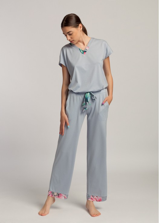Pantaloni lungi dama modal Beatrice Lotus