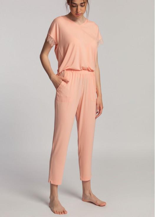 Pantaloni dama micromodal Cozy corai