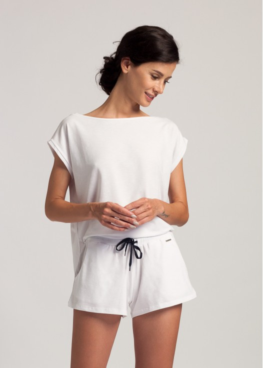 Pantaloni scurti dama modal Soft Touch alb