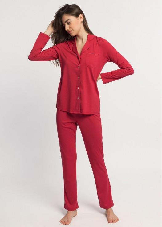 Pijama dama modal cu nasturi Beatrice Ginko