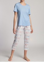 Pijama dama modal cu maneca scurta Moonsky