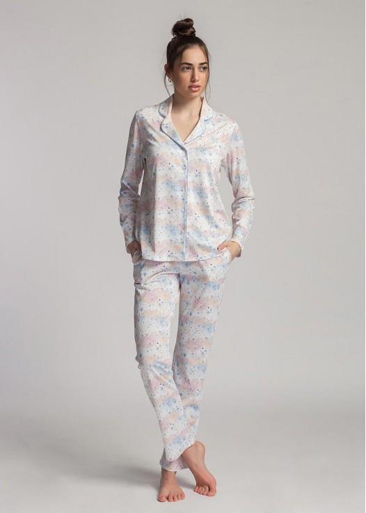 Pijama dama modal cu nasturi Moonsky