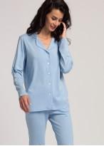 Pijama dama modal cu nasturi Moonsky blue