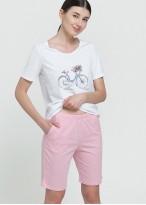 Pijama scurta dama bumbac roz