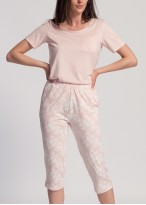 Pijama scurta dama modal Clara pink