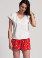 Pijama dama bumbac Felicity white