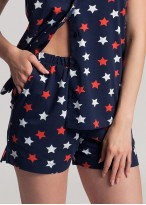 Pijama dama bumbac cu nasturi Grace