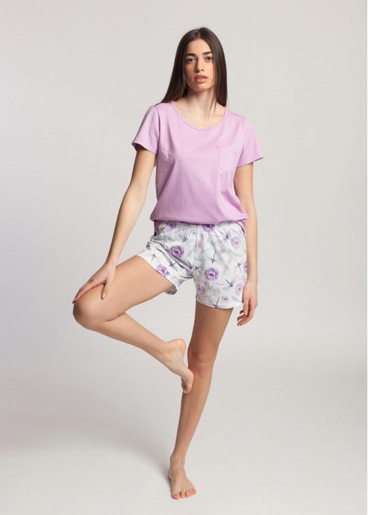 Pijama dama cu tricou Dragonflies