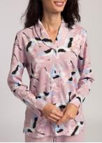 Pijama dama cu nasturi Wild Birds