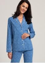 Pijama dama bumbac organic maneca lunga Debora