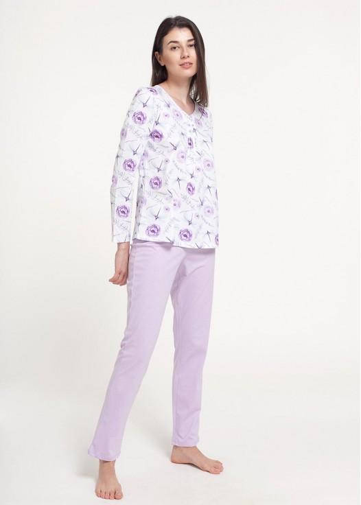 Pijama dama bumbac maneca lunga DRAGONFLIES