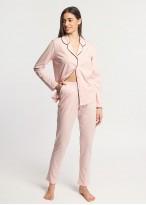 Pijama dama modal cu nasturi Winter Story roz