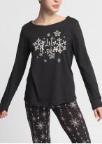 Pijama dama modal maneca lunga Winter Story neagra