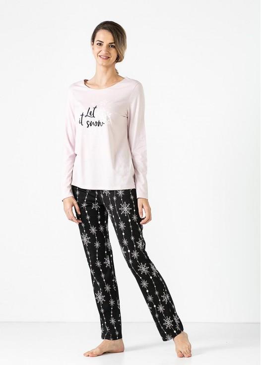 Pijama dama modal maneca lunga Winter Story Modal roz