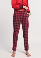 Pijama dama bumbac maneca lunga Nature rosie