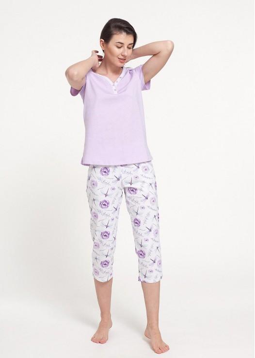 Pijama dama bumbac maneca scurta DRAGONFLIES