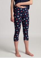 Pijama dama bumbac maneca scurta Grace blue