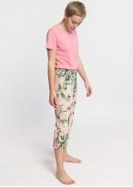 Pijama dama bumbac pantaloni 3/4 Emily confetti