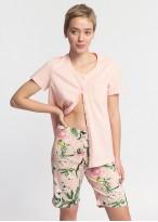 Pijama dama bumbac cu nasturi Emily Roz