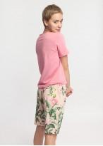 Pijama dama bumbac pantaloni scurti Emily confetti