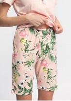 Pijama dama bumbac pantaloni scurti Emily roz