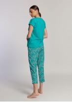 Pijama dama bumbac organic Green Waves