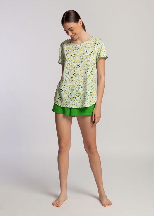 Pijama scurta dama modal Fresh Leaves