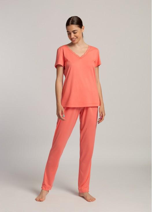 Pijama maneca scurta dama modal Danielle Shell Pink