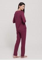 Pijama dama modal maneca lunga Danielle Wine