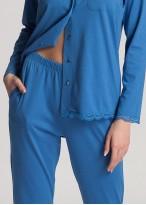 Pijama dama modal cu nasturi Danielle Star Sapphire