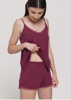 Pijama dama modal bretele Danielle Wine