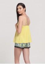 Pijama femei modal bretele Fiona Yellow
