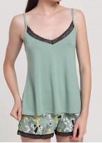Pijama dama modal bretele Fiona Green