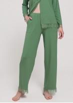 Pijama dama micromodal cu nasturi Cozy kaki