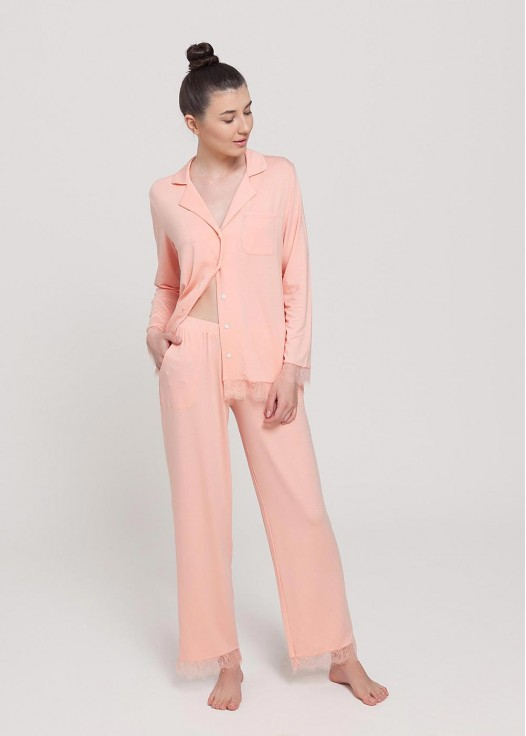 Pijama dama micromodal cu nasturi Cozy