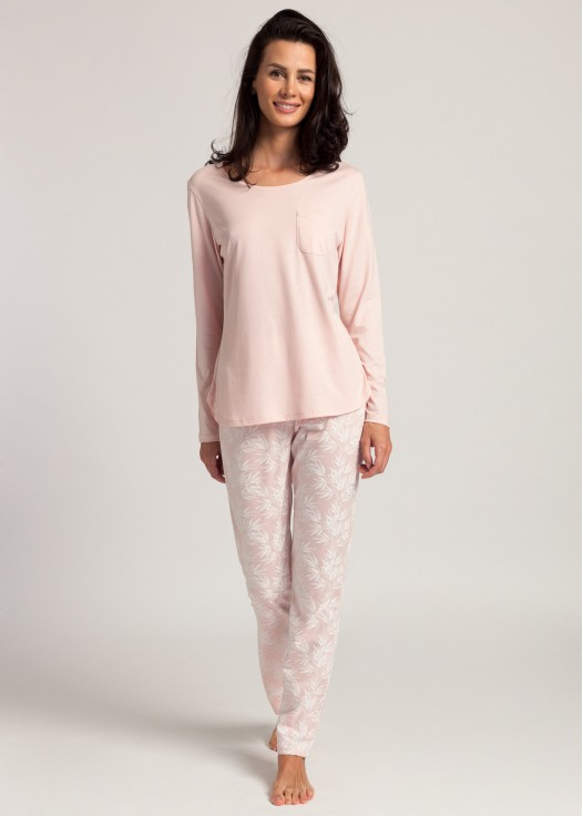 Pijama dama modal maneca lunga Clara pink